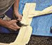 ②アラミド繊維シートカッティング