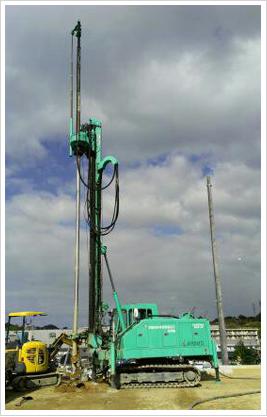 柱状改良工事施工状況(DHJ-12)